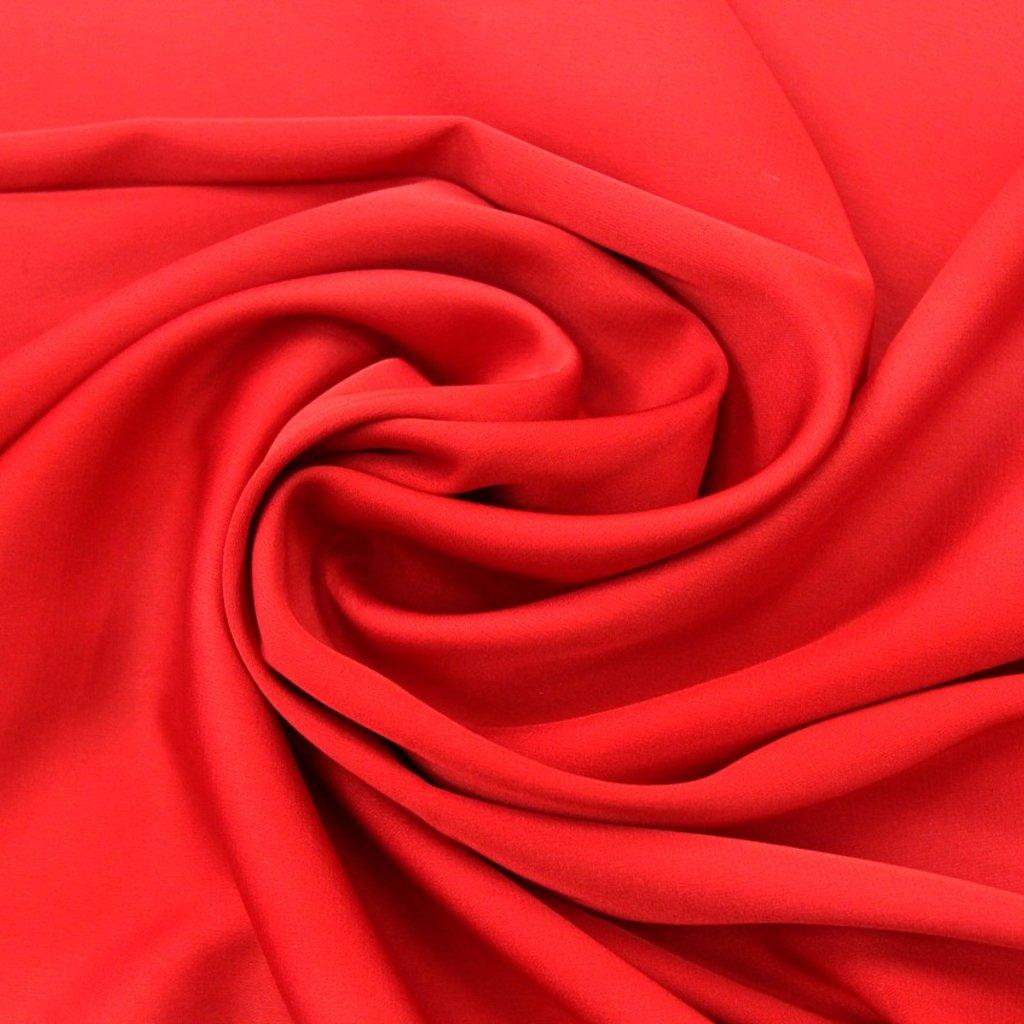 Satén jemný elastický červený