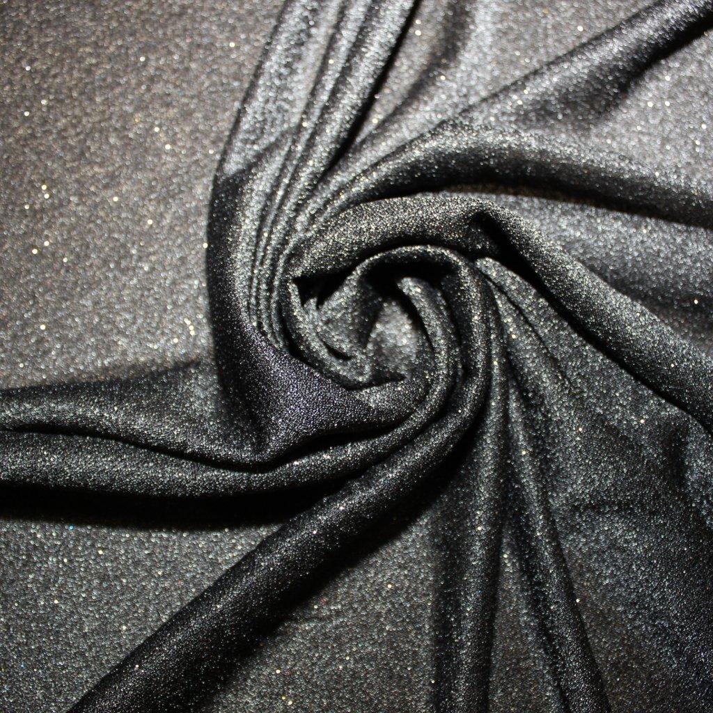 Sitka černá s černým třpytem