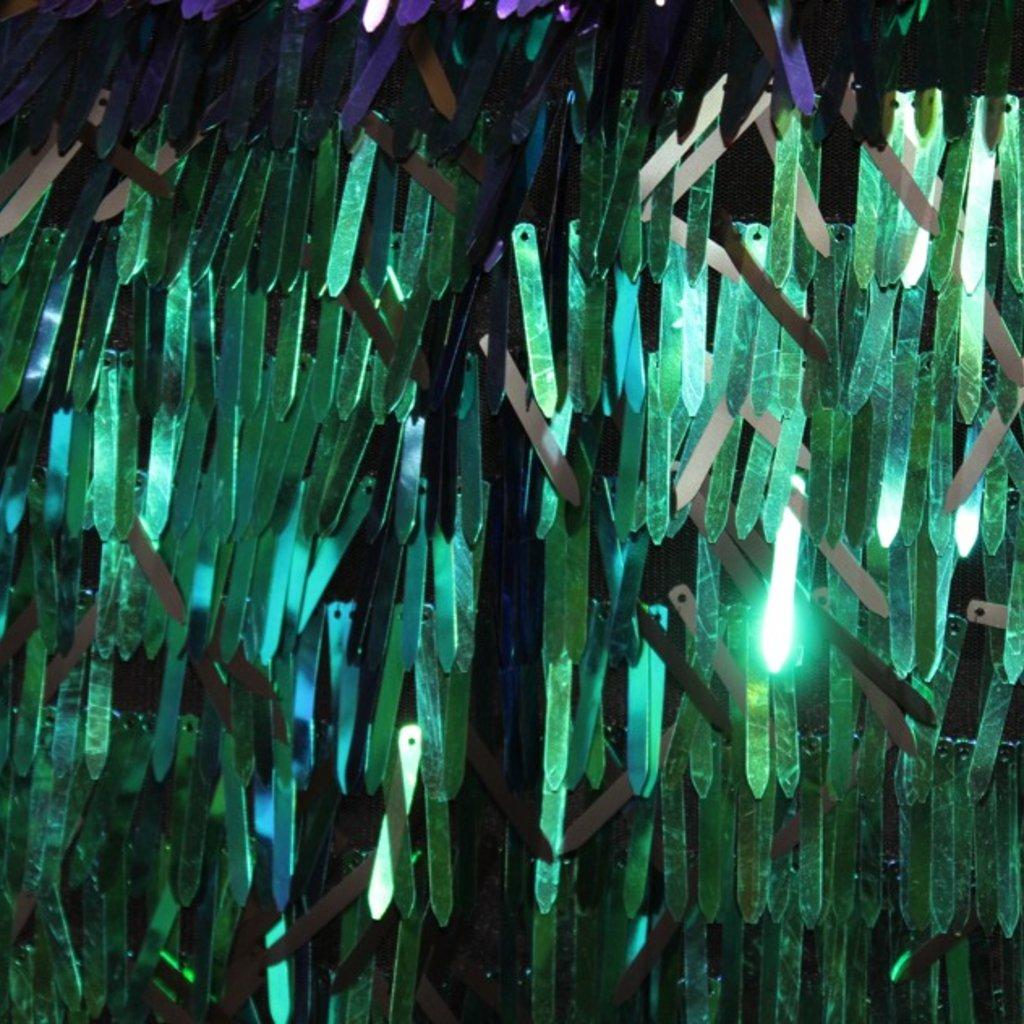 Flitrová látka zelený hologram