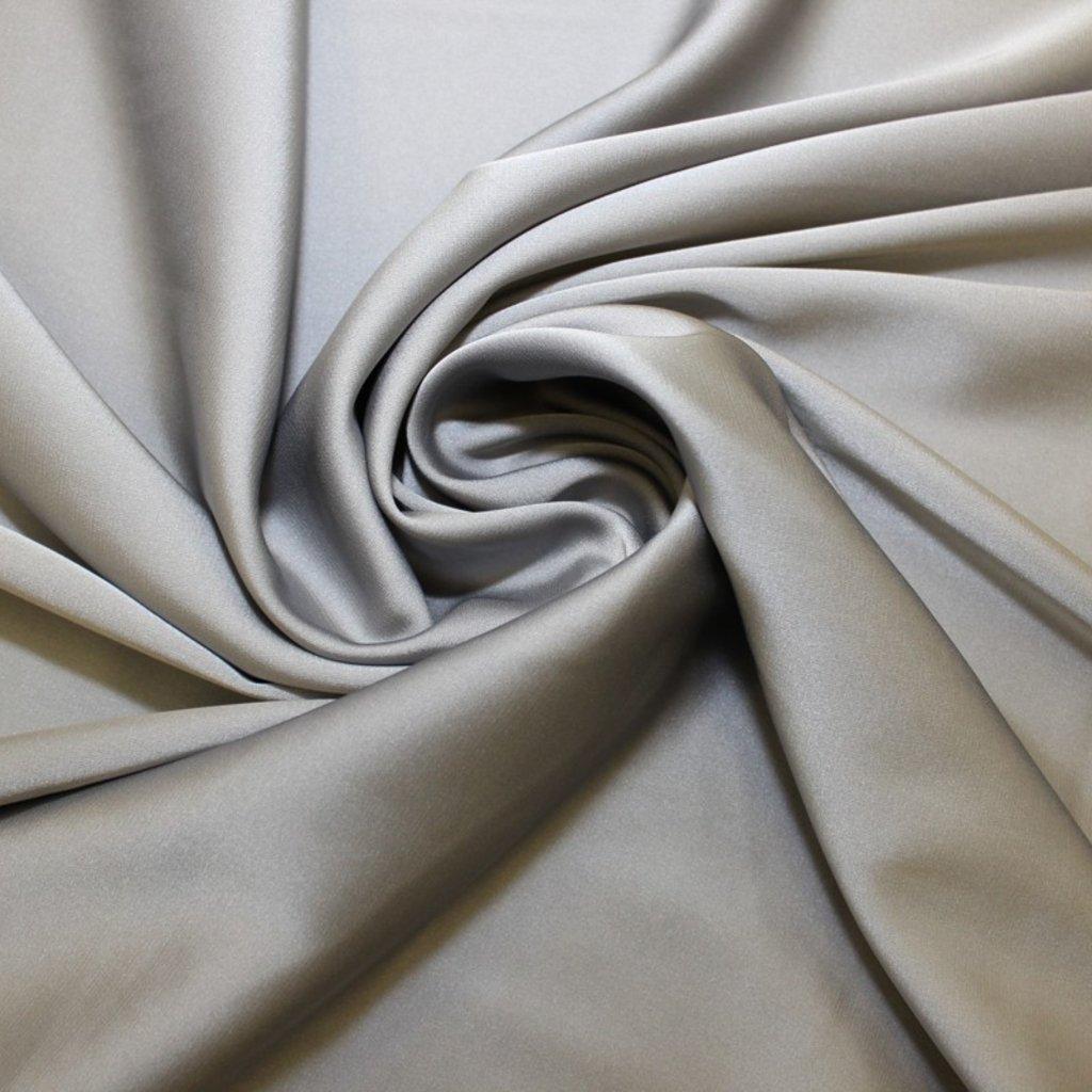 Atlas jemný pružný šedý