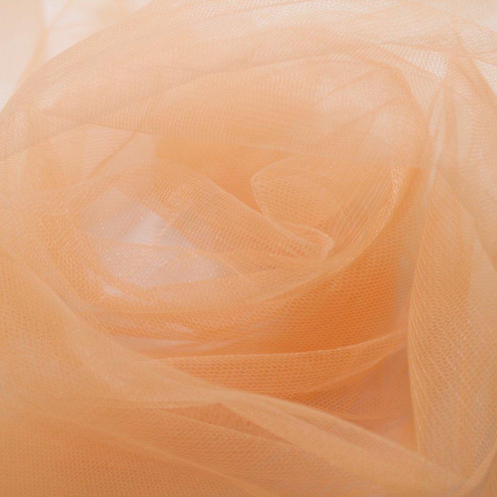 Tyl meruňkový jemný závojový