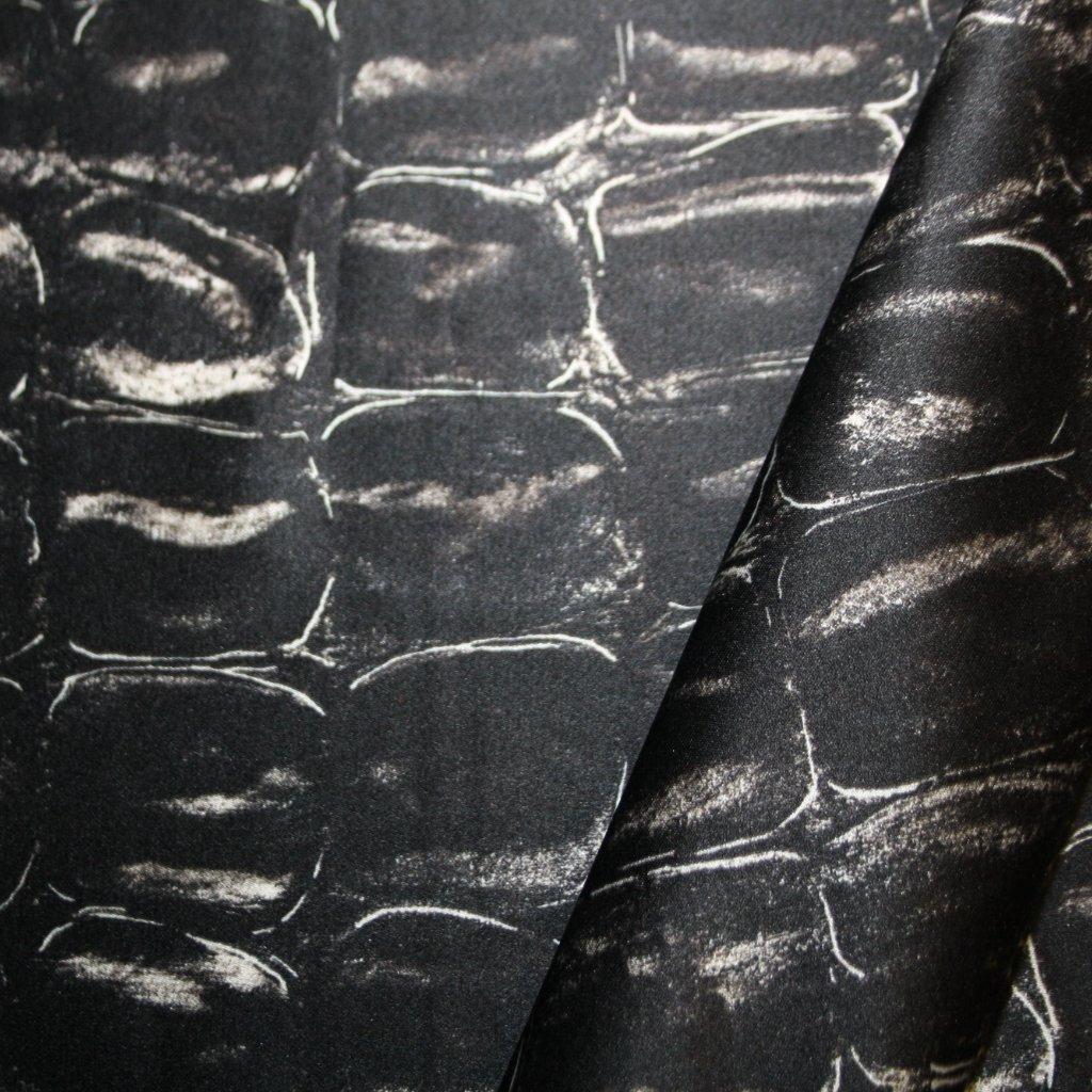 Hedvábí pravé taftové tmavě šedé