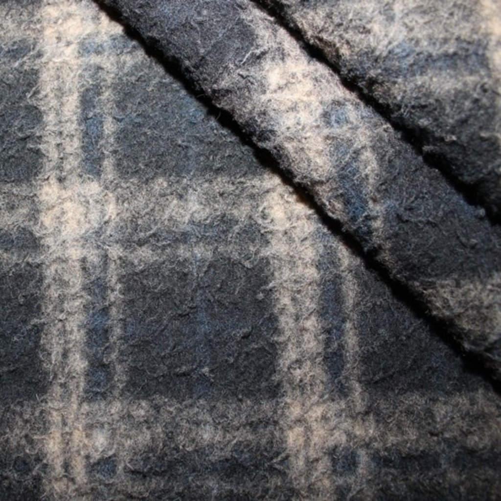 Kabátovina modrobéžová