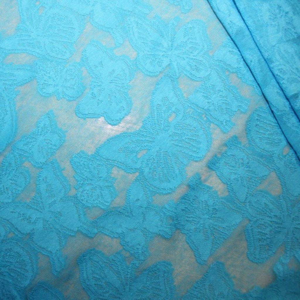Krajka modrá bavlněná