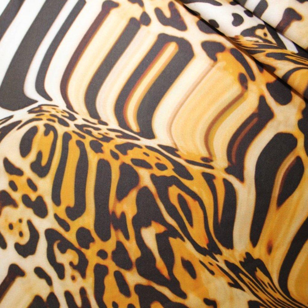 Bavlna oranžový vzor