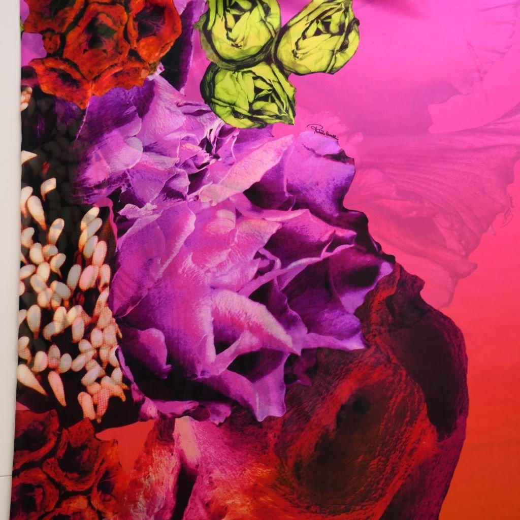 Hedvábný šifon růžovooranžový