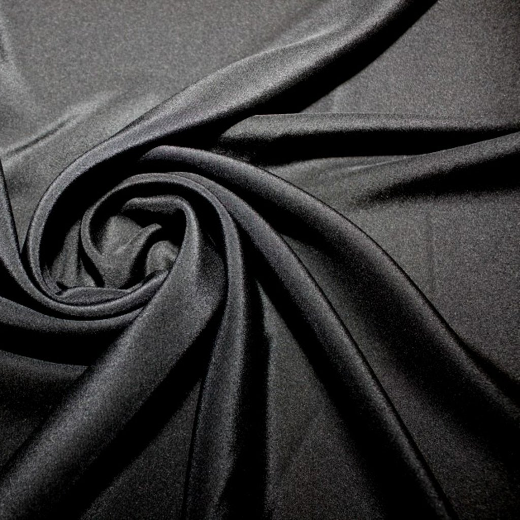 Hedvábí pravé černé matné