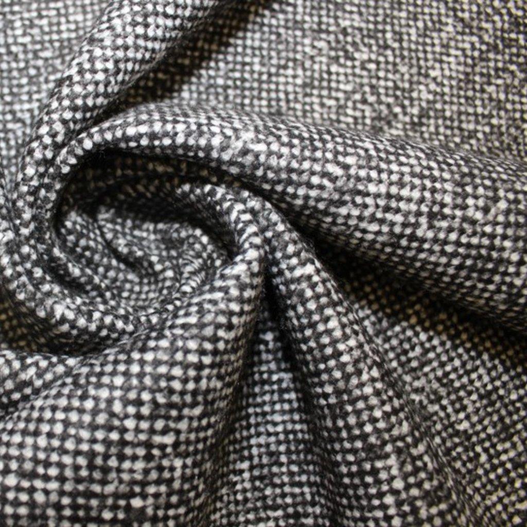 Kabátovina – černobílá