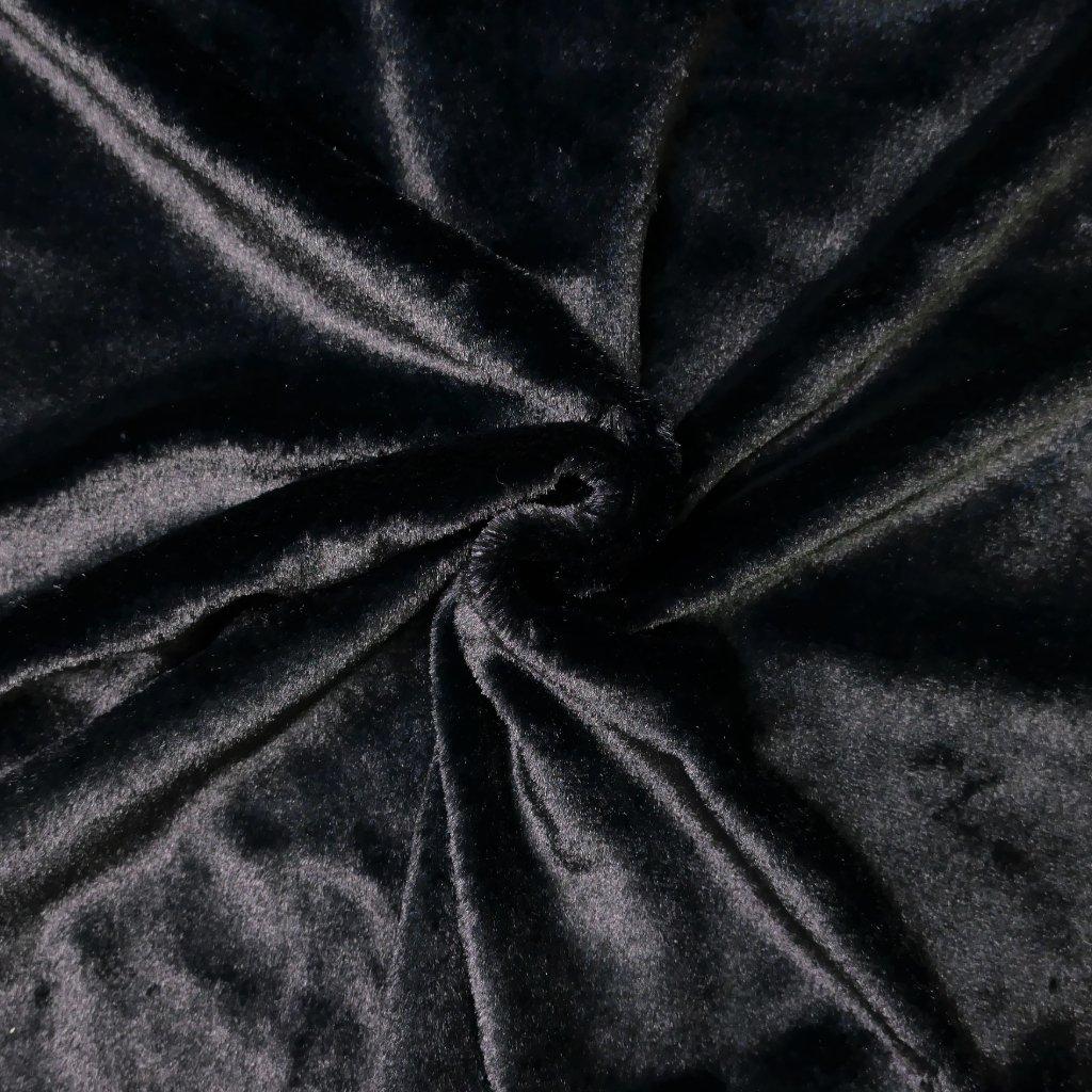 Kožešina černá lesklá