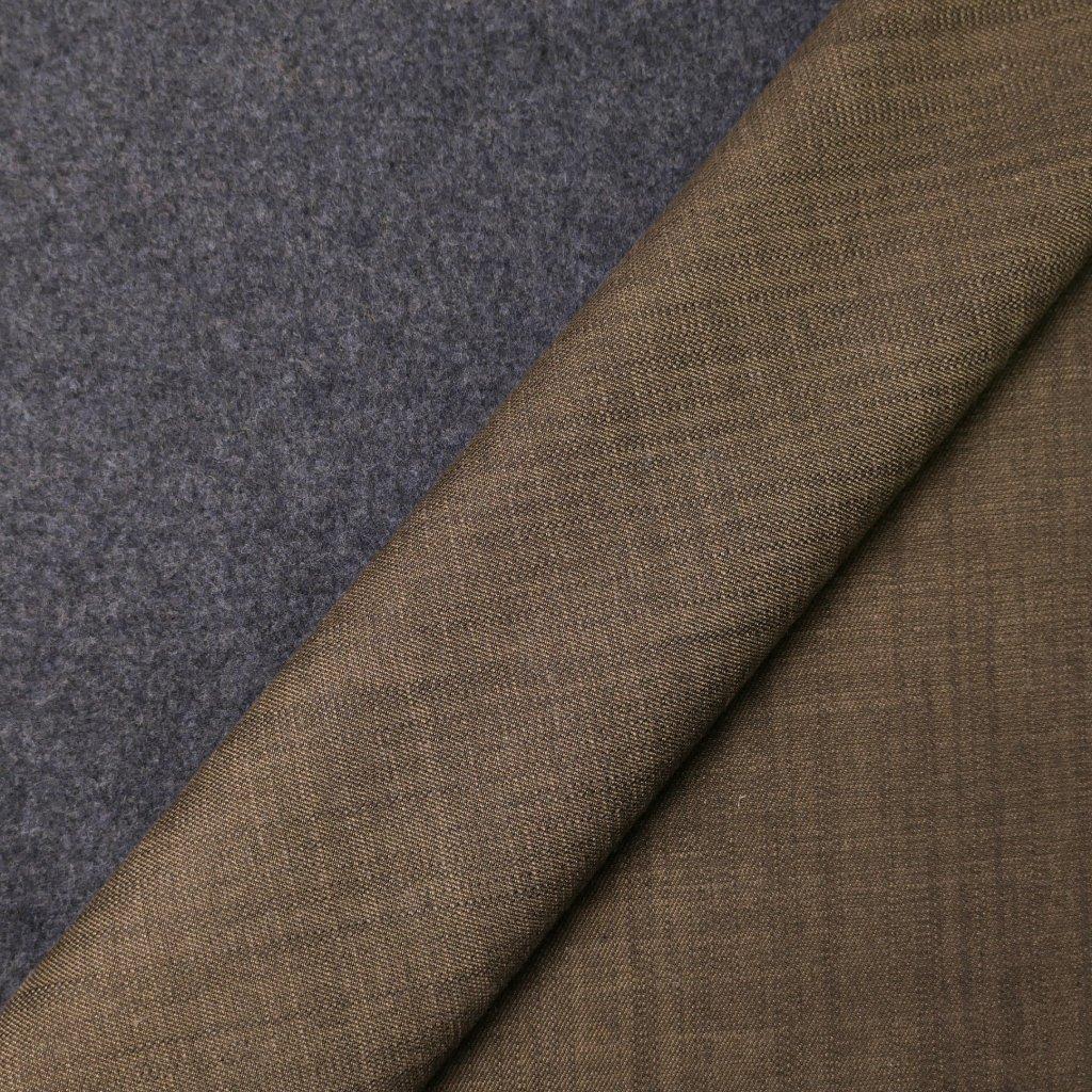 Kabátovina šedo-hnědá oboustranná
