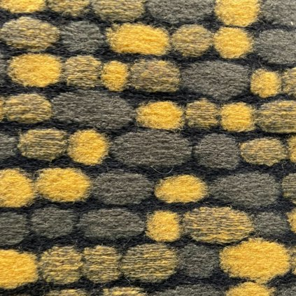Ozdobný loden khaki zeleno žlutý