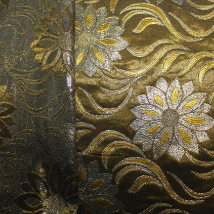 Brokát zlatožlutý