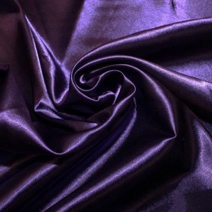 Taft oboustranný fialový