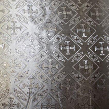 Brokát stříbrný