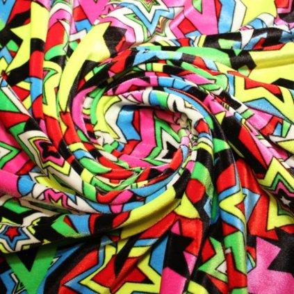 Samet hvězdičky různobarevný