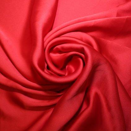 Satén jemný prádlový pružný červený