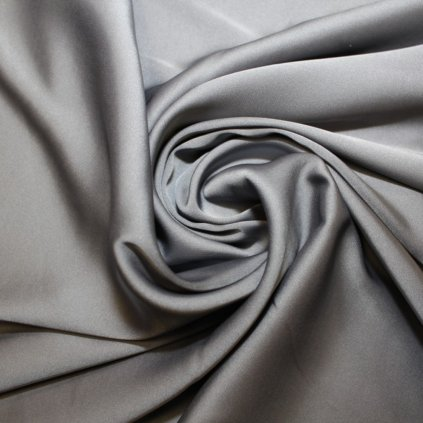 Satén jemný prádlový pružný šedý