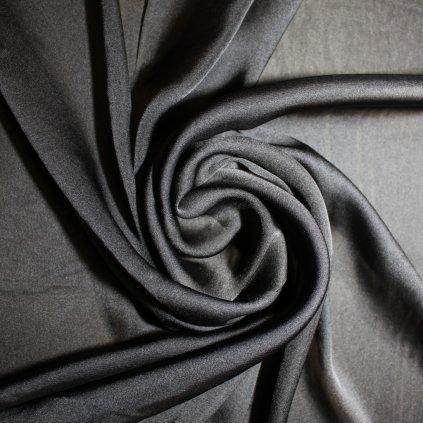 Šifon polyestrový černý