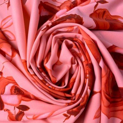 Lycra s potiskem růžová