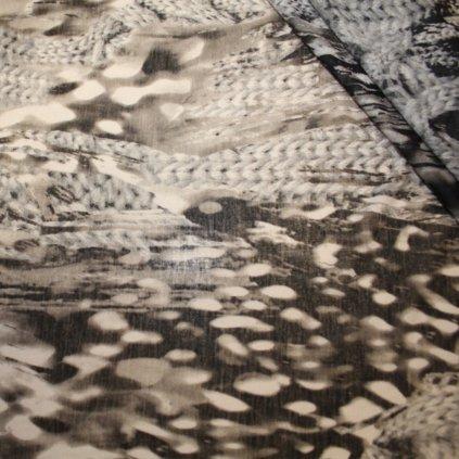 Látka šedá polyestrová