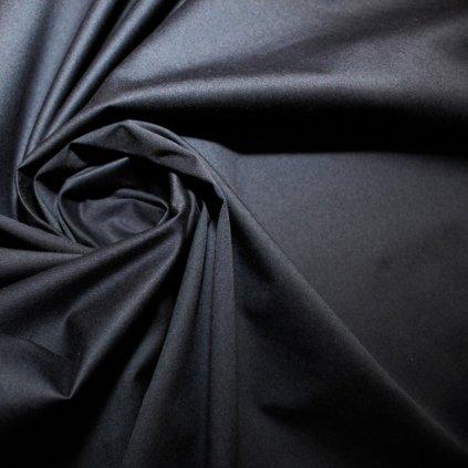 Bavlna tmavě modrá elastická