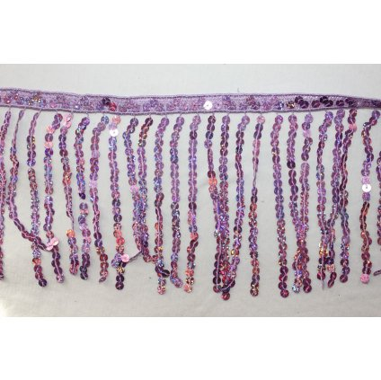 Třásně flitrové fialové