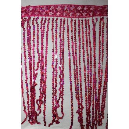 Třásně flitrové růžové