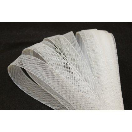 Mřížka na taneční šaty 2cm bílá