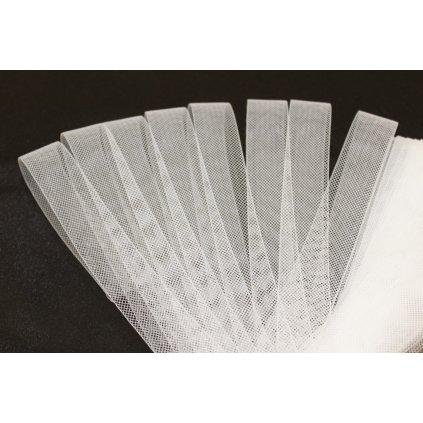 Mřížka na taneční šaty 3cm bílá