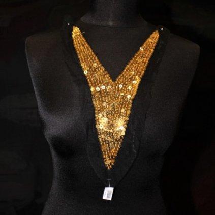 Ozdoba flitrová zlatá