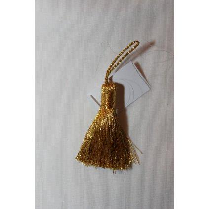 Střapec zlatý 4cm