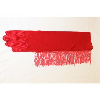 Rukavice saténové červené