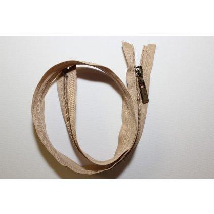 Zip spirálový 60cm béžový