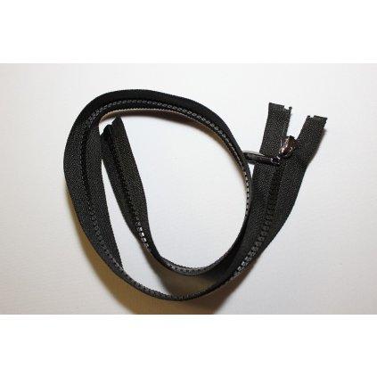 Zip kostěný 60cm černý