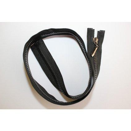 Zip kostěný 70cm černý