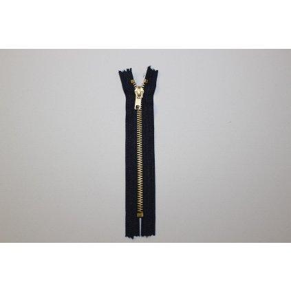 Zip kalhotový kovový 16cm tmavě modrý