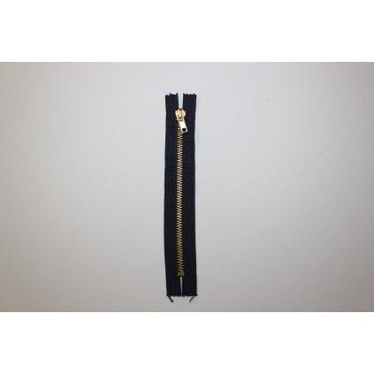 Zip kalhotový kovový 18cm tmavě modrý