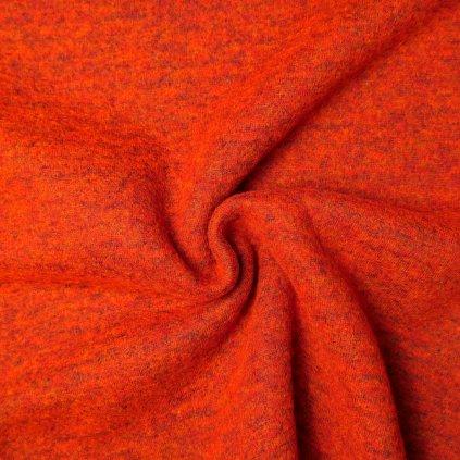 Loden cihlově oranžový melírovaný