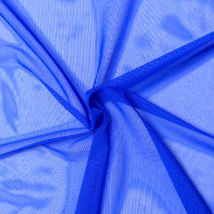 Tyl (síťka) královsky modrý strečový