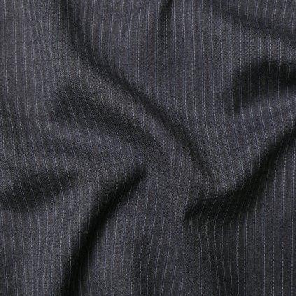 Kostýmovka tmavě šedá proužkovaná