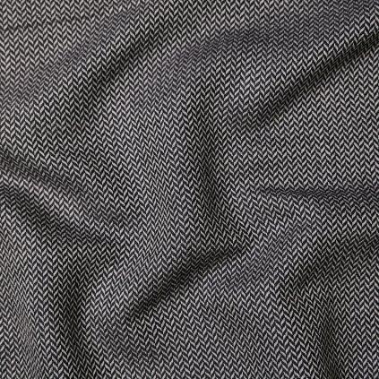 Kostýmovka černobílá se vzorem zig-zag