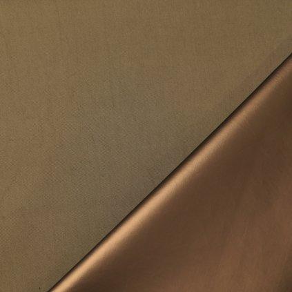 Koženka khaki-měděná s jemným leskem