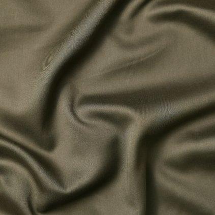 Bavlna khaki jemně lesklá
