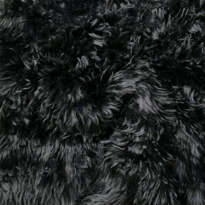 Kožešina černá střapatá