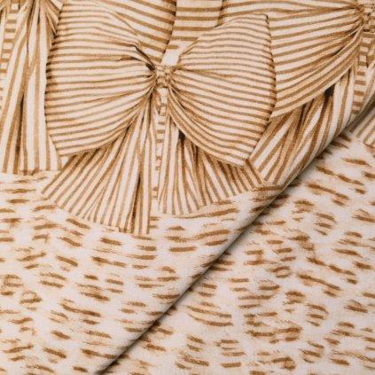 Úplet béžovo-hnědý vzorovaný