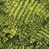 Teplákovina černo žlutá se vzorem hadí kůže