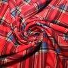 Polyestrová látka červená kostička