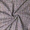Kabátovina bílá s modrými a khaki křížky