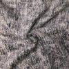 Kabátovina černobílá česaná s odlesky