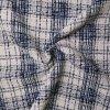Kabátovina modro-bílá kostkovaná
